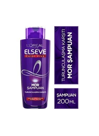 Elseve Elseve Turunculaşma Karşıtı Mor Şampuan 200 ml 3'lü Seti Renksiz